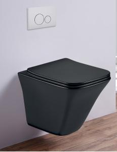 Esbano LUCHENA-C Унитаз подвесной безободковый, черный матовый