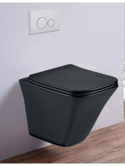 Esbano LUCHENA-C Унитаз подвесной безободковый черный матовый