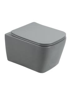 Esbano TIRON-C Унитаз подвесной безободковый, серый матовый
