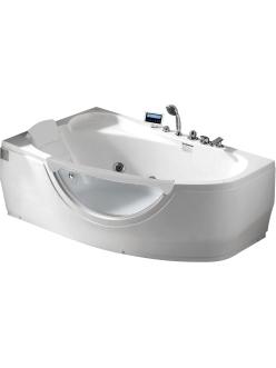Gemy G9046 K Ванна гидромассажная пристенная, 161х96 см, белый