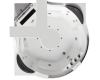 Gemy G9070 O Ванна гидромассажная пристенная, 170х170 см, белый