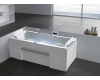 Gemy G9076 K Ванна гидромассажная пристенная, 177х81 см, белый