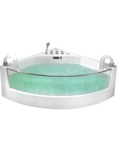 Gemy G9080 Ванна угловая с аэромассажем 150х150 см, белый