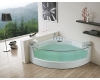 Gemy G9080 Ванна аэромассажная угловая со стеклянной вставкой, 150х150 см, белый