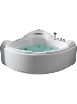 Gemy G9082 B Ванна гидромассажная пристенная, 152х152 см, белый