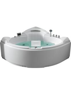 Gemy G9082 O Ванна гидромассажная пристенная, 152х152 см, белый