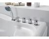 Gemy G9083 B Ванна гидромассажная пристенная, 180х121 см, белый