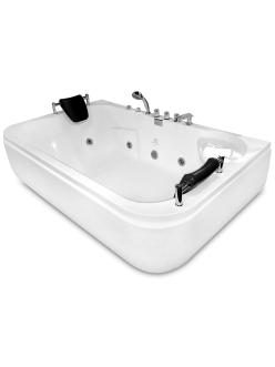 Gemy G9085 B Ванна гидромассажная пристенная, 180х116 см, белый