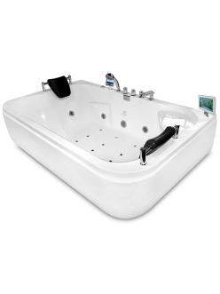 Gemy G9085 O Ванна гидромассажная пристенная, 180х116 см, белый