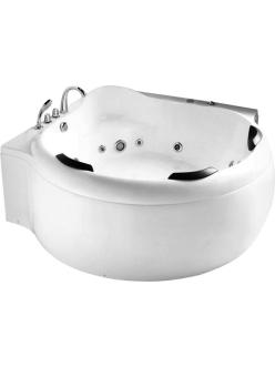 Gemy G9088 B Ванна гидромассажная пристенная, 185х185 см, белый