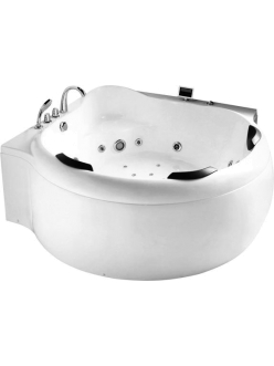 Gemy G9088 K Ванна гидромассажная пристенная, 185х185 см, белый