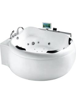 Gemy G9088 O Ванна гидромассажная пристенная, 185х185 см, белый