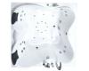 Gemy G9089 K Ванна гидромассажная пристенная, 187х187 см, белый