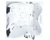 Gemy G9089 O Ванна гидромассажная пристенная, 187х187 см, белый