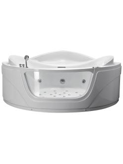Gemy G9247 K Ванна гидромассажная пристенная, 165х165 см, белый