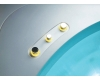 Gemy G9252 Ванна гидромассажная пристенная, 155х155 см, белый