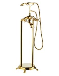 Gemy G7096 Смеситель для ванны напольный, золото