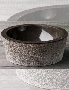 Natural Stone 40 Drip Black Раковина из чёрного мрамора с ручной отделкой