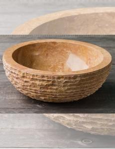 Natural Stone 40 Brown Раковина из коричневого мрамора с колотым краем