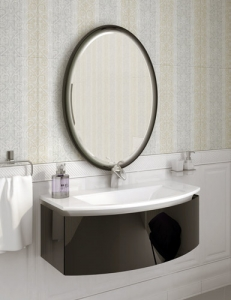Ingenium Miracle 90 Комплект мебели для ванных комнат (Mir 900.02) Чёрный глянец