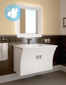 Ingenium Vogue 90 Комплект мебели для ванных Белый (Vog 900.02-v) - Водостойкий