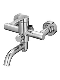 Смеситель для ванны с верхним подключением и поворотным изливом Swedbe Diana 1035 Хром