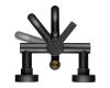 Смеситель для ванны с верхним подключением и поворотным изливом Swedbe Diana 1035B Чёрный матовый