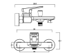 Смеситель для ванны Swedbe Kronos 2030B Чёрный матовый
