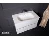Тумба VALLESSI 837-080-W с керамической перламутровой раковиной 81 см