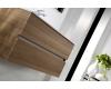 Тумба 100 см VALLESSI 837-100-L со столешницей 840-100-W + накладная раковина