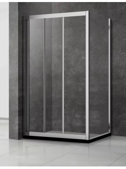 Veconi RV-031 – Душевой угол, раздвижной, Алюминий, стекло 6 мм