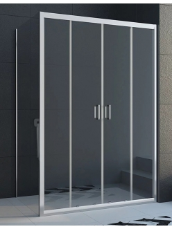 Veconi RV-045 – Душевой угол, раздвижной, Алюминий, стекло 6 мм