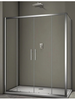 Veconi RV-062 – Душевой угол, раздвижной, Алюминий, стекло 6 мм