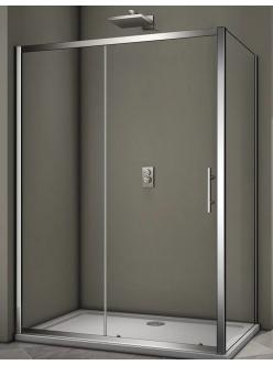 Veconi RV-063 – Душевой угол, раздвижной, Алюминий, стекло 6 мм
