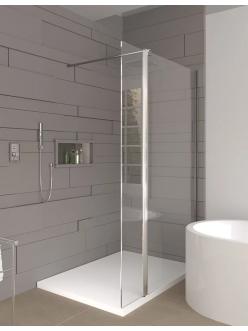 Veconi KR-75 – Душевая перегородка, алюминий, стекло 6 мм