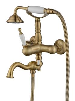 Смеситель для ванной Aksy Bagno Prestigio 701 Бронза