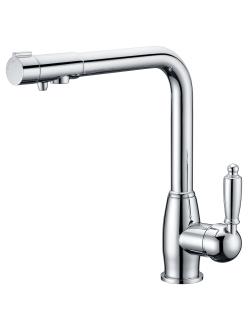 Смеситель для кухни Aksy Bagno TL-1514 Хром с переключателем на питьевую воду