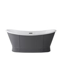 BelBagno BB33-CF36 Ванна отдельностоящая 168х78 см, Серый матовый