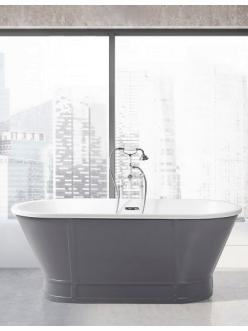 BelBagno BB35-CF36 Ванна отдельностоящая 168х78 см (Серый матовый)