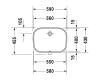 Duravit D-Code – Раковина встраиваемая сверху 56 см (0338560000)