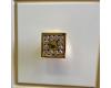 Опадирис Лаура 120 – Комплект мебели для ванной белый с золотой патиной