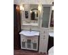 Опадирис Тибет 80 – Комплект мебели для ванной (слоновая кость, стекло)
