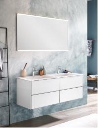 Puris Ice line 120 – Комплект мебели для ванной комнаты, 4 ящика