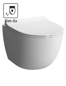 VitrA Sento 7748B003-0075 Подвесной унитаз Rim-Ex с сиденьем микролифт