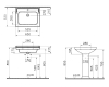 Vitra Serenada 7801B003-0001 Раковина подвесная или на пьедестале, 65 см
