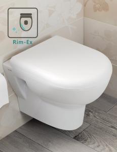 Vitra Zentrum 5795B003-0075 Подвесной безободковый унитаз Rim-Ex с сиденьем SC