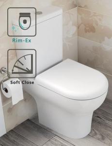 Vitra Zentrum 9824B003-7207 Унитаз безободковый Rim-Ex с бачком и сиденьем SoftClose