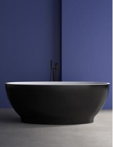 Abber AB9207B Ванна акриловая отдельностоящая 165х80 см, черный