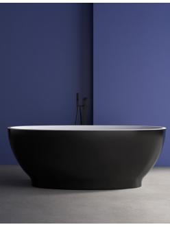 Abber AB9207B Ванна акриловая отдельностоящая, 165х80 см, черный