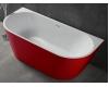 Abber AB9216-1.7R  Ванна акриловая пристенная, 170х80 см, красный